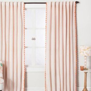 Opalhouse Pink Velvet Curtain with Tassels